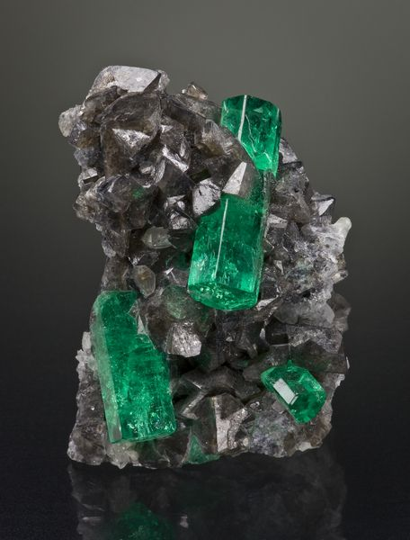 Beryl var Emerald Coscuez Mine, Colombia 53 mm Photographed for The Arkenstone ex Herb Obodda Collection