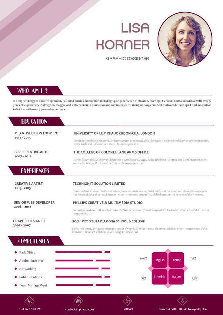 Les 25 Meilleures Id 233 28 Images Les 25 Meilleures Resume Cv Resume Design Creative Resume