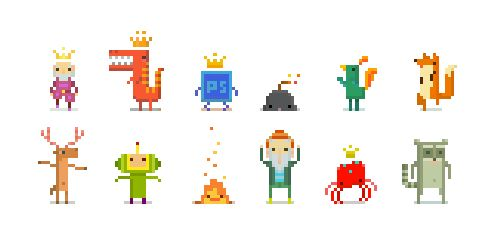 I put some of my mini pixels together, and it looks like they know how to party! :)