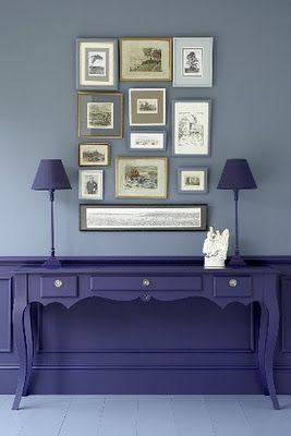layering mix match art #purple