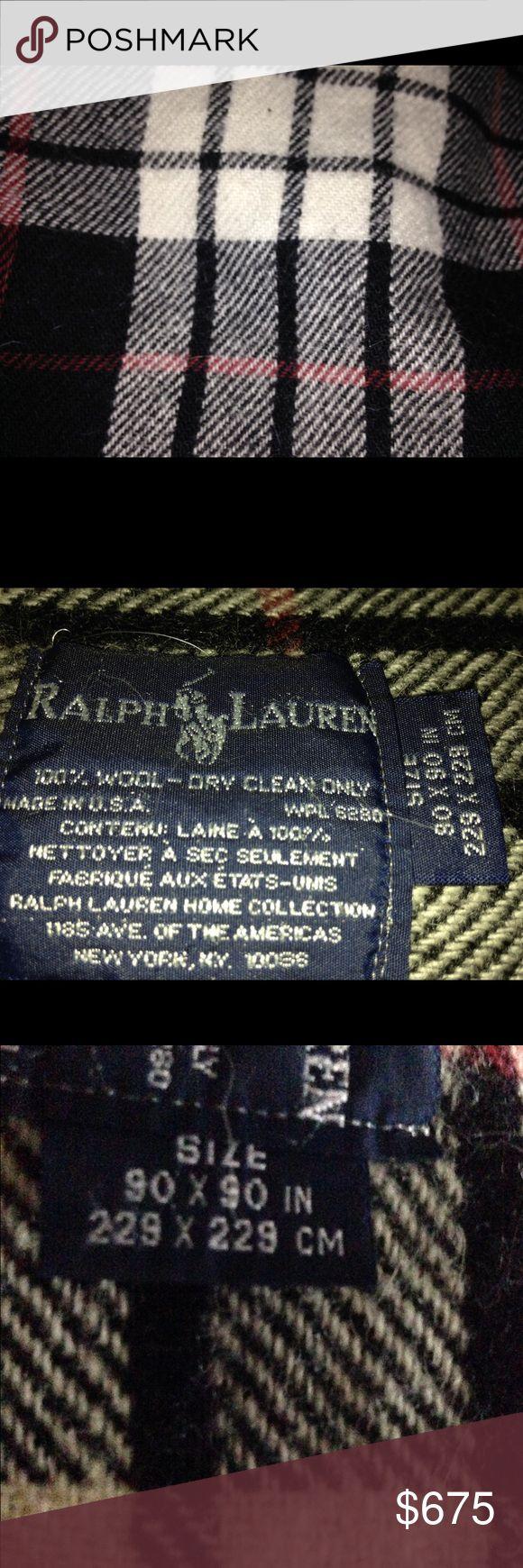 Ralph Lauren 100% wool blanket Multi-color never used just sat on end of sofa Ralph Lauren Other