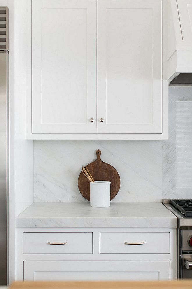 cabinet paint color: Farrow and Ball All White.  Brooke Wagner Design.