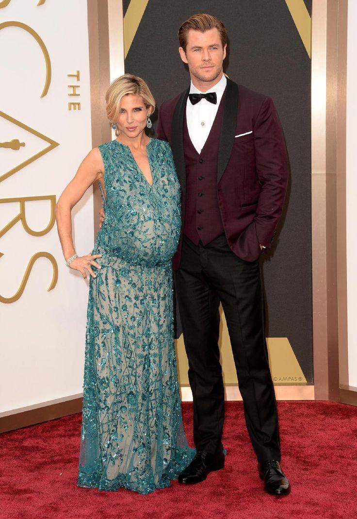 Les plus beaux couples des Oscars 2014: Chris Hemsworth et Elsa Pataky (Photo Getty) | Elle Québec