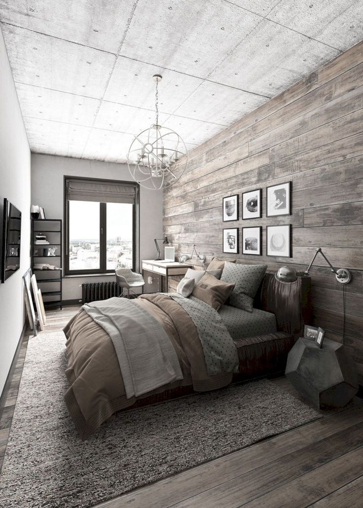 51 Industrial Bedroom Designs Ideas For Small Spaces Cozy