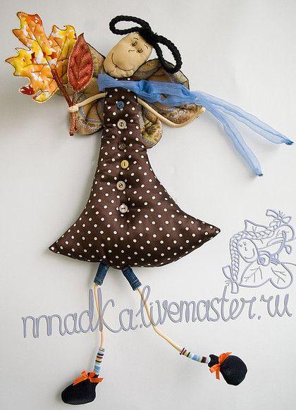 Сказочные персонажи ручной работы. Ярмарка Мастеров - ручная работа. Купить осенняя влюблённая. Handmade. Осень, интерьерная кукла