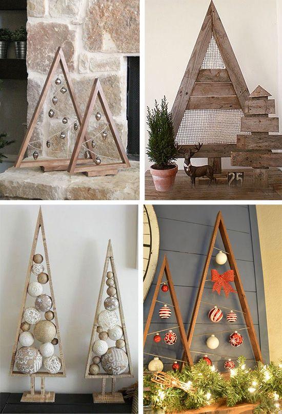 Новогодний декор: елочки из деревянных реек