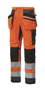 AllroundWork, High-Vis Work Trousers Holster Pockets+ CL2 — Snickers Workwear