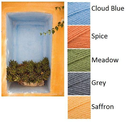 Colour Inspiration - Stylecraft Special DK Cloud Blue, Spice, Meadow, Grey and Saffron