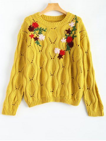 GET $50 NOW | Join RoseGal: Get YOUR $50 NOW!http://www.rosegal.com/sweaters/round-neck-retro-floral-embroidered-770375.html?seid=7421894rg770375