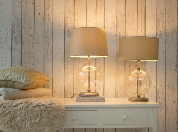 The Harleston #Table #Lamps are available  #plain or #fluted. The stunning #glass surround makes a beautiful reflective lamp.