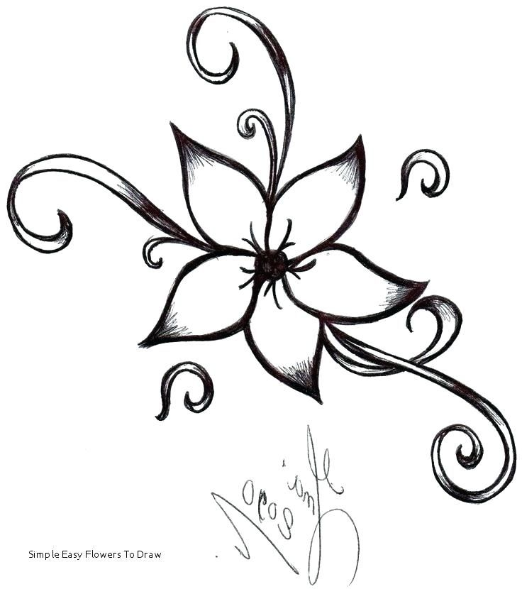 Easy Rose Flower Sketches Avalance Info Easy Flower Drawings Simple Flower Drawing Pretty Flower Drawing