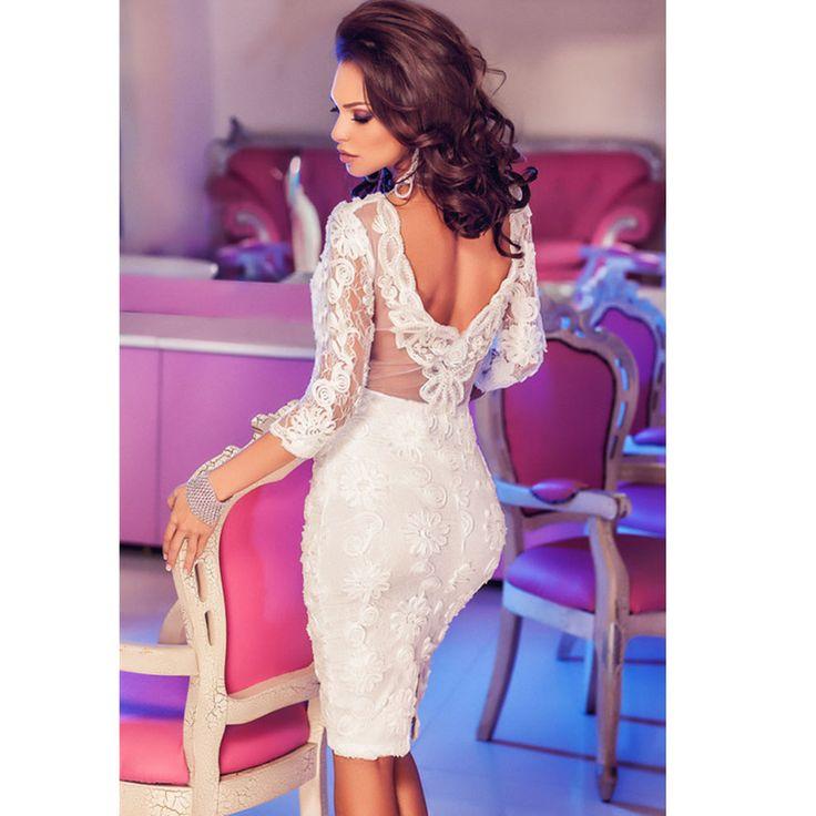 Aliexpress.com: Compre 2016 Casual mulheres Bodycon vestido mulheres lace up V   Neck mangas tanque vestir para trabalho de escritório bainha lápis vestidos de festa de confiança vestido hip fornecedores em KING FASHION DRESS CO.,LTD