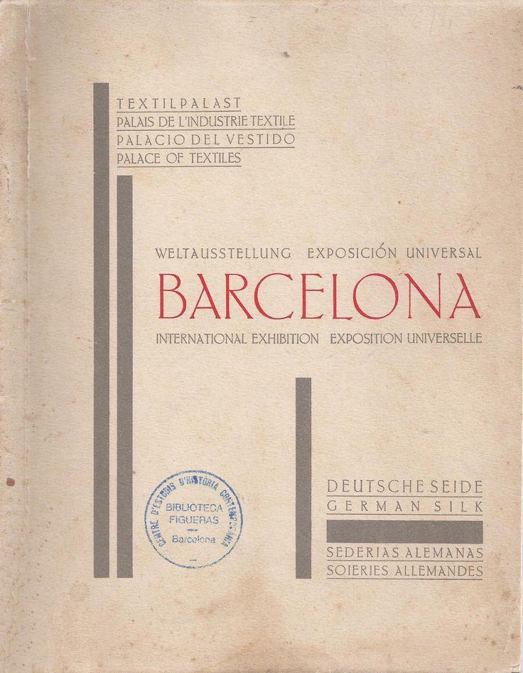 http://cataleg.ub.edu/record=b1906855~S1*cat #catàleg #expo1929 #Barcelona