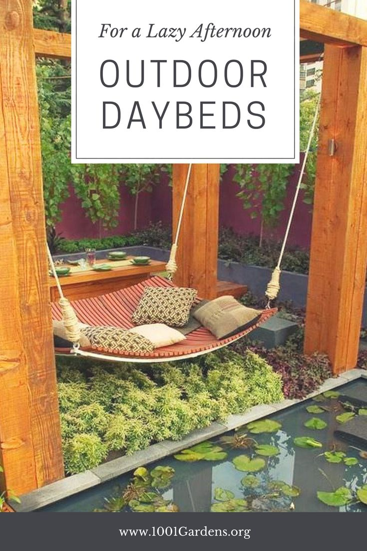 10 Outdoor Daybeds for a Lazy Afternoon - Patio & Outdoor Furniture - Outdoor Daybeds combine the pleasure of daydreaming (or sleeping!) in complete tranquility. Sometimes it is a pleasure of being in the sun and feeling the gentle summer breezes against our face. The desire to relax and have a peaceful moment is the driving force for the new must-have summer... #Best #Chair #Daybeds #Decoration #Garden #Lawn #Outdoor #Patio #Terrace #Top