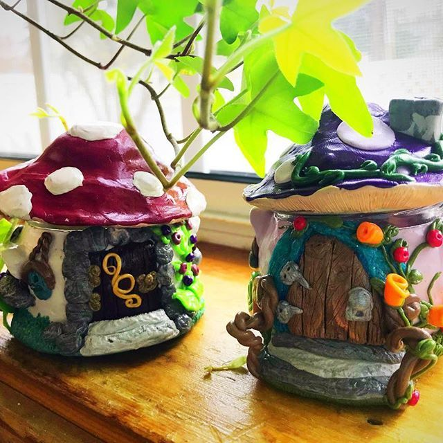 Taking orders for custom toadstool houses! Don't like red or purple? Pick your color scheme! $16 per piece. Can be used for jewelry, as a candleholder, your stash, nick nacks, or just as a decorative piece. Link in bio. Enjoy and BeKind! #bekindnatdesign #bekind #toadstool #polymerclay #polymerclayjar #fimo #sculpey #handmade #create #art #artist #artistic #polymerclayart #homedecor #floral #shopsmall #fibromyalgia #etsy #etsylent #etsyseller #etsyshop