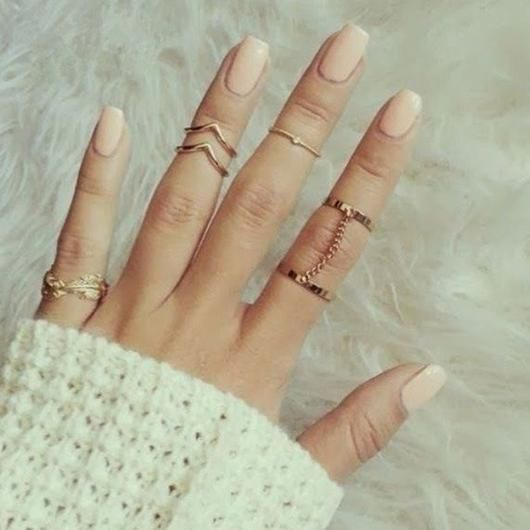 San Francisco Mid-Finger Ring Set