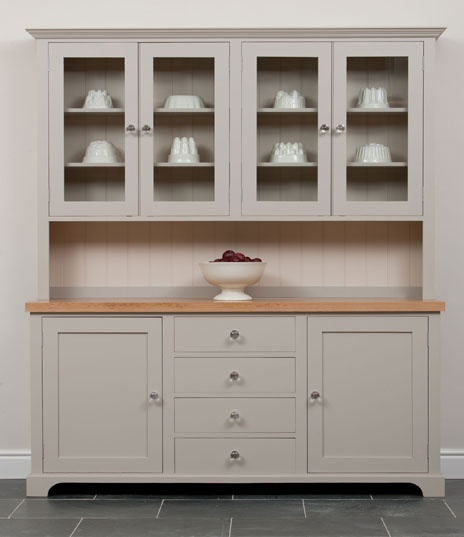 A beautiful big kitchen dresser with lots of storage space