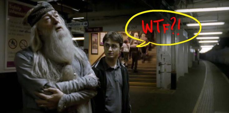 Professor Dumbledore hat eine Narbe über seinem linken Knie, die die Form des Londoner U-Bahn-Plans hat. | 37 Fakten, die Dich komplett neu auf Harry Potter schauen lassen