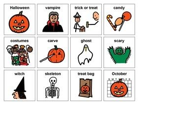 Using Boardmaker symbols, introduce your students to the various activities and pictures related to Halloween and also work on matching skills at the same time. There are four boards to print. I would suggest printing out an extra copy of one of the boards to cut up and use as the calling cards.