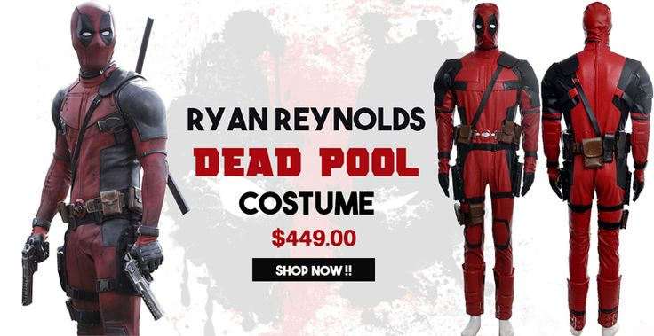 Ryan Reynolds Deadpool Costume for sale $449.00 with free Shipping at Worldwide Deadpool Halloween Cosplay Suit Made from Faux Leather get free shipping worldwide. #DeadpoolCostume #Deadpool #RaynReynolds #ComicCon #Costume #ComicCon2015 #NYCC #Fashion #Halloween #Style #Celebrities #SupheroCostume #OOTD #HalloweenCostume #Hollywood #Cosplay #MensWear #Jacket