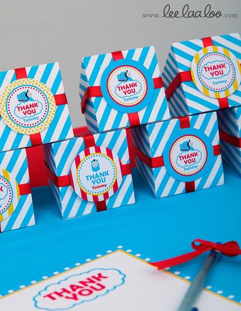 Thomas party favor boxes