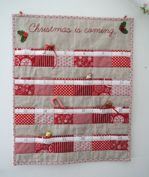 Christmas advent calendar Scandinavian red & by SewSweetViolet