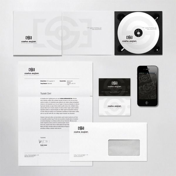 Cseke Eszter Photographer Identity by Laszlo Sandor, via Behance