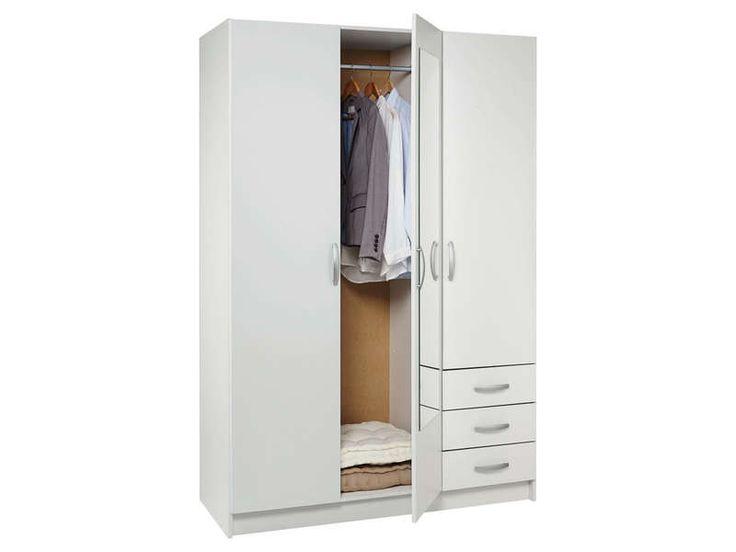 armoire en bois conforama. Black Bedroom Furniture Sets. Home Design Ideas