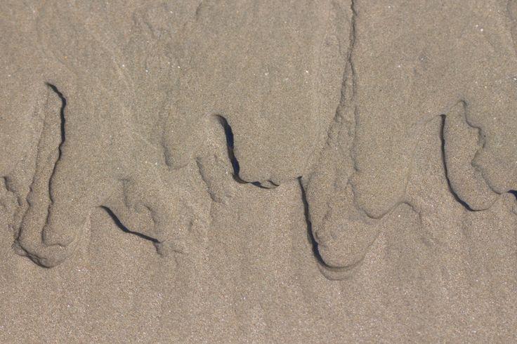 Natural patterns in the sand #Nature #Waimarama