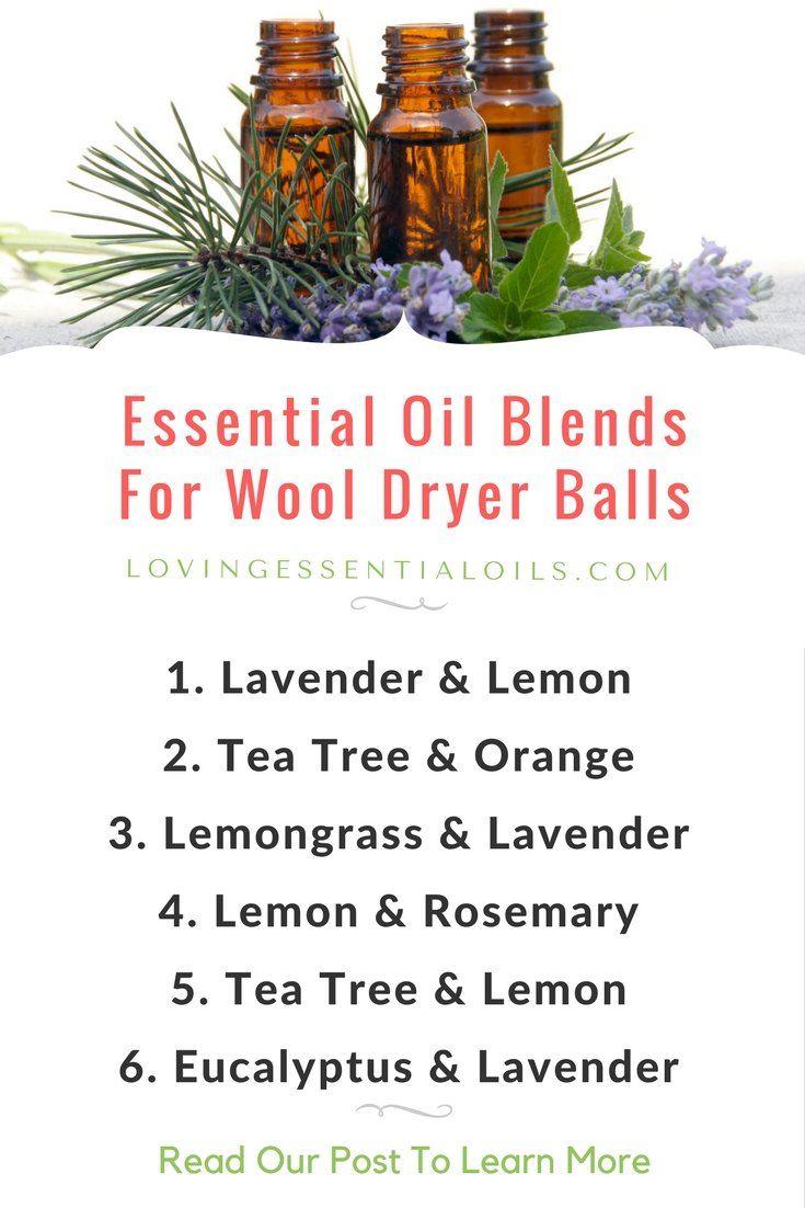 Diy Essential Oil Wool Dryer Ball Blend Essential Oils Cleaning