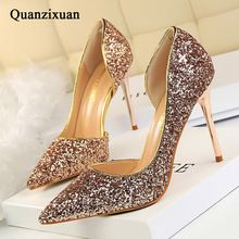 Women Pumps Bling High Heels Women Pumps Glitter High Heel Shoes Woman Sexy Wedding Party Shoes Gold Silver //FREE Shipping Worldwide //