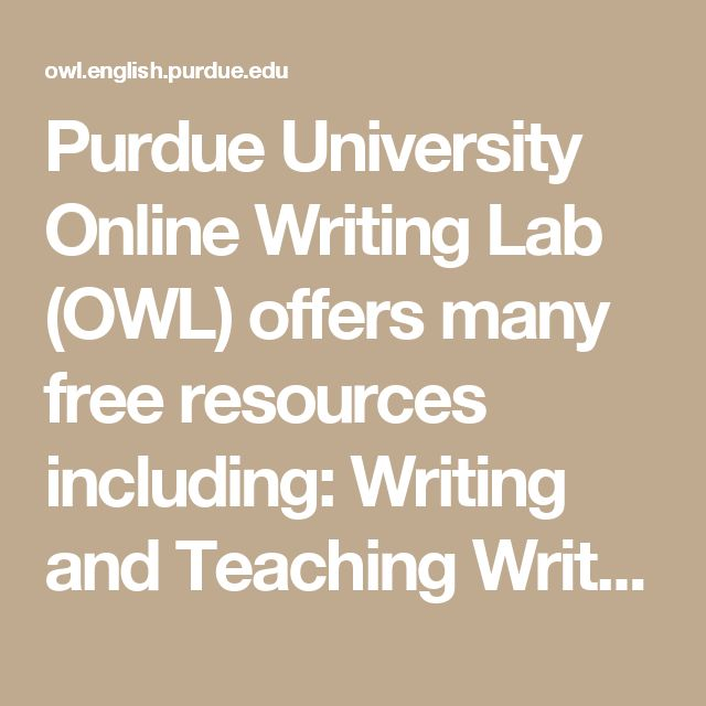 Owl purdue online writing lab