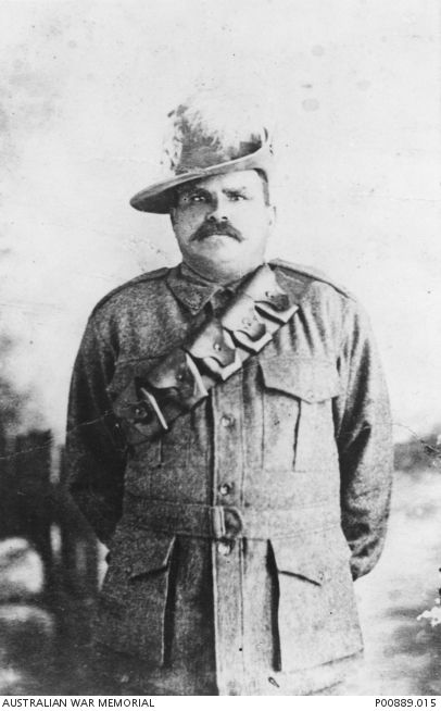 Portrait of 2428 Trooper (Tpr) Frank Fisher, an Aboriginal serviceman who was born at Claremont, Qld, but at the time of his enlistment was living with his second wife Esme, and three children from his first marriage, at the Barambah Settlement, Qld (renamed Cherbourg Aboriginal Settlement in 1931). Tpr Fisher enlisted in Brisbane on 16 August 1917 in the 28 Reinforcements to 11th Light Horse Regiment and embarked in Sydney on the troopship Ulysses (A38) on 19 December 1917.