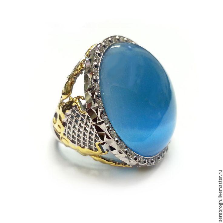 """Купить Серебряное кольцо """"Небо"""" - голубой, серебряный, серебряные украшения, серебряные серьги, серебряное кольцо"""