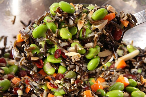 Wild Rice and Edamame Salad: A keeper. I omitted the cranberries because I don't like sweet flavors in my salads. Without, it was perfectly savory and satisfying as both a lunch and a side.