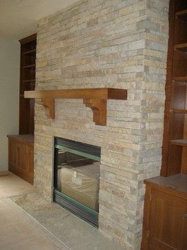 contemporary fireplace vanear | Primavera Natural Limestone Veneer contemporary fireplace accessories