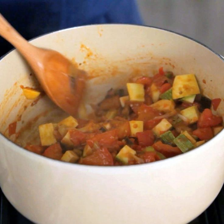 Get the recipe for Chef Ludo Lefebvre's ratatouille and poached egg from Food & Wine.