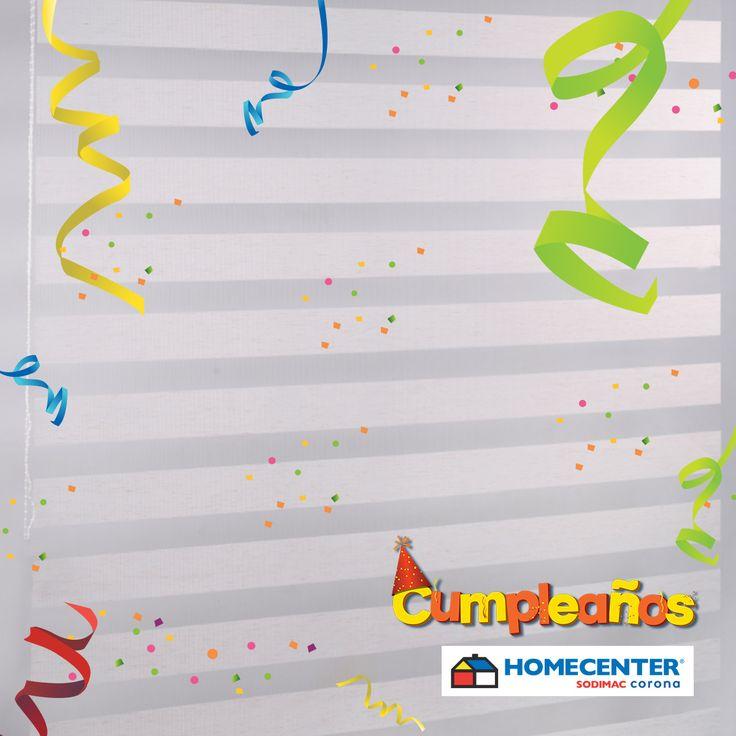 Gracias al #CumpleañosHomecenter podrás darle privacidad a tus espacios, lleva Persiana Roller Franjas a $54.900 Medidas 100x180cm ¿Te gusta?