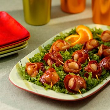 Bacon-Wrapped Water Chestnuts - Recipe from Price Chopper