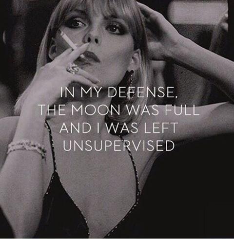 Ter mijn verdediging; het was volle maan en ik werd niet in de gaten gehouden