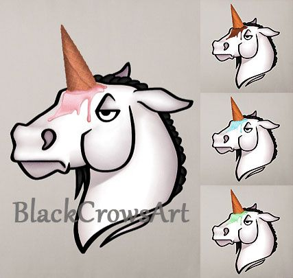 My little Unicone ^.^ If you like it you can get it here: https://www.spreadshirt.de/user/blackcrow