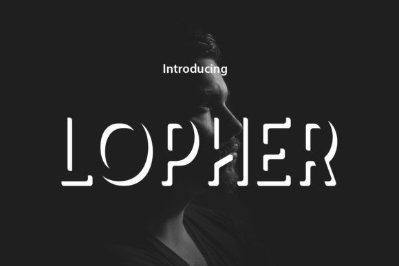 Lopher Font By Da Only Aan Creative Fabrica In 2020 Logo Fonts New Fonts Decorative Font