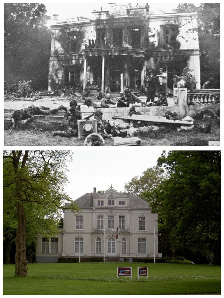 Hotel Hartenstein, Arnhem - Then & Now - 1944 & 2003