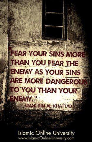 Fear your sins