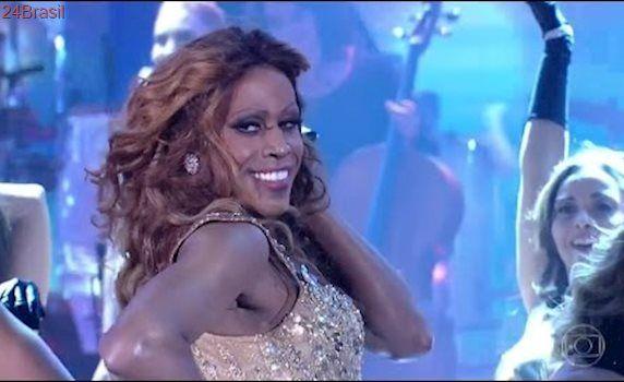 Ícaro Silva interpreta Beyoncé no Domingão do Faustão 23/04/2017
