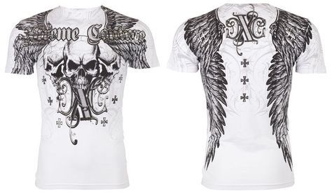 Xtreme Couture AFFLICTION Mens T-Shirt OVER THE TOP Tattoo Biker UFC M-4XL $40 #Affliction #GraphicTee
