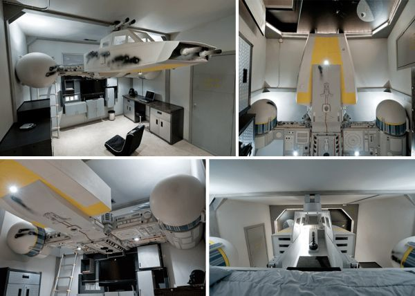 The photos below show a Star Wars-themed bedroom in a house listed for sale back in 2009.