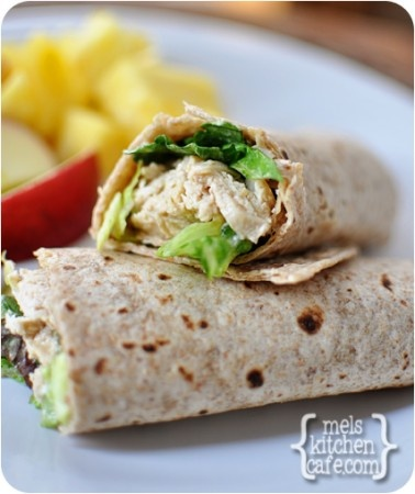 Chicken Caesar Wrap - Mel's Kitchen Cafe