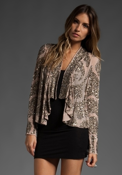 ANTIK BATIK Lisa Sequin Jacket in Powder at Revolve Clothing - Free Shipping! - StyleSays