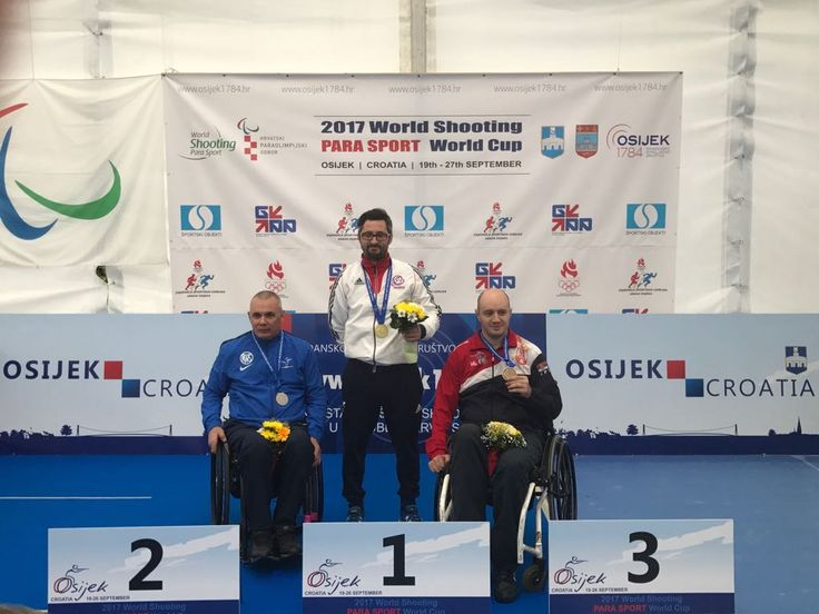 September 26 2017 - James Bevis wins gold in new Paralympic Games event R9 (50m rifle prone SH2) in Croatia for Team GB